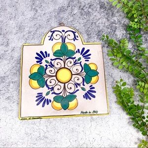 Pier 1 Imports Ceramic Italian Wall Tile Lemon